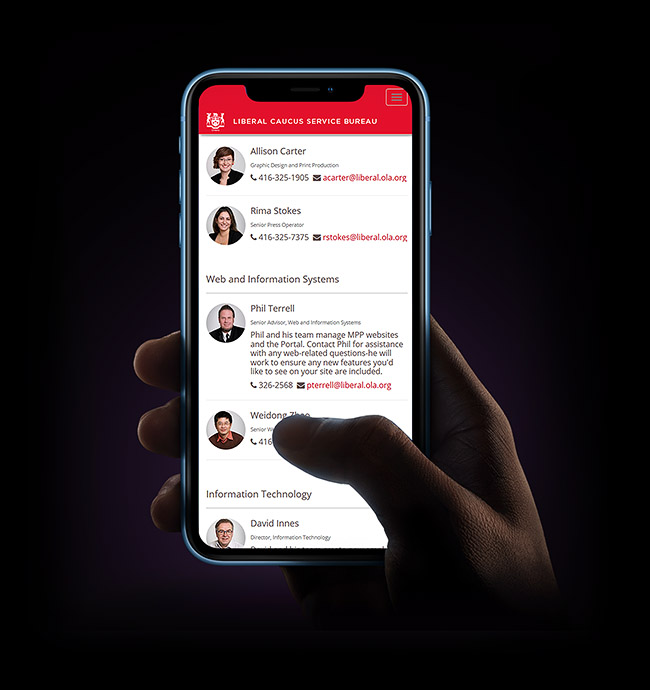 Liberal Caucus Communications Extranet